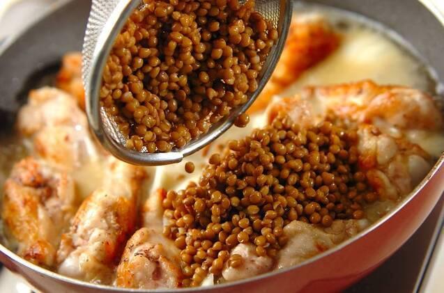 手羽元とレンズ豆の煮込みの作り方の手順6
