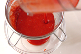 イチゴとフランボワーズのムースの作り方1