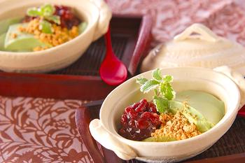 クリーム抹茶豆腐