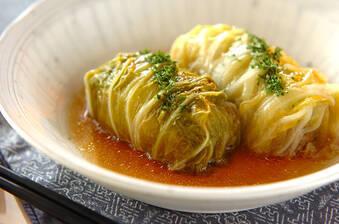 和風味のロール白菜