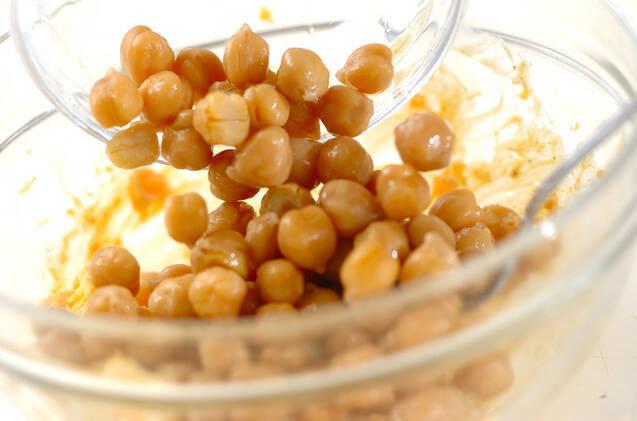 ヒヨコ豆とルッコラのサラダの作り方の手順4