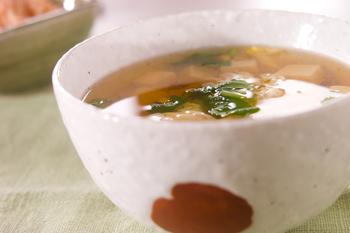 ふわふわ卵のスープ