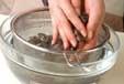 アサリのみそ汁の下準備1