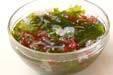 豆腐と海藻のサラダの下準備2