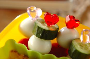 うずら卵のカラフル串