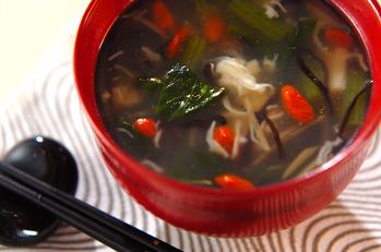 小松菜のスープ