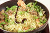 お弁当に焼そばの作り方の手順4