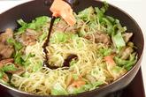 お弁当に焼そばの作り方4
