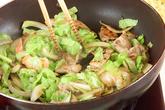 お弁当に焼そばの作り方3