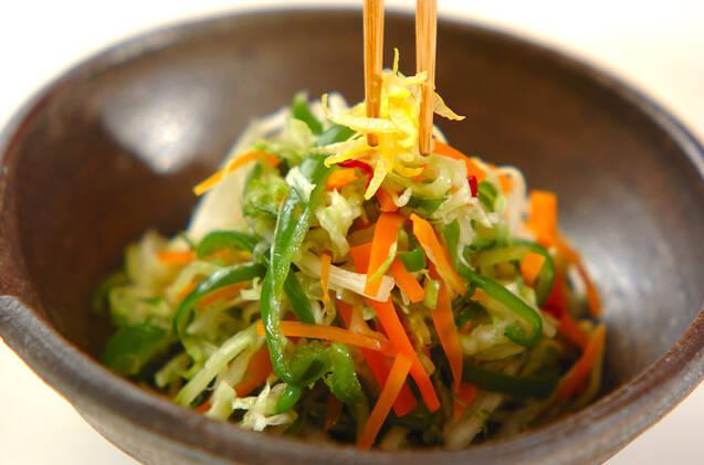 たっぷり野菜のユズ風味和えの作り方の手順9