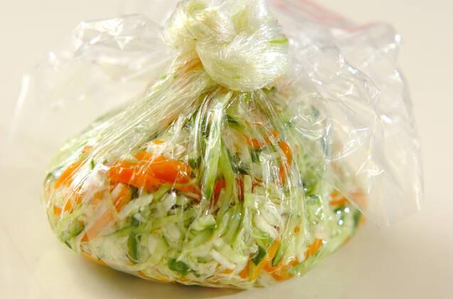 たっぷり野菜のユズ風味和えの作り方の手順8