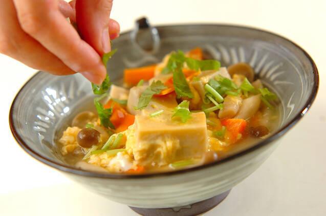 高野豆腐の卵とじの作り方の手順7