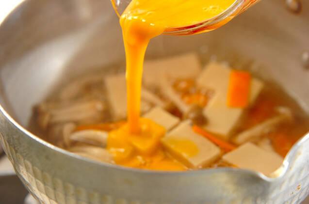 高野豆腐の卵とじの作り方の手順6
