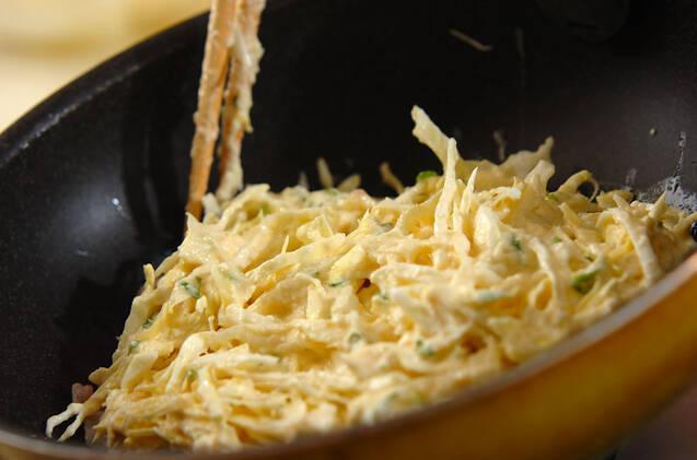 豆腐入りお好み焼きの作り方の手順2