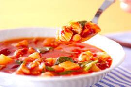 豚肉・トマト味のスープの作り方の手順4