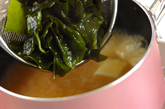 塩ワカメのみそ汁の作り方2
