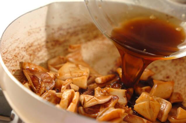 漬けイカの炒め物の作り方の手順3