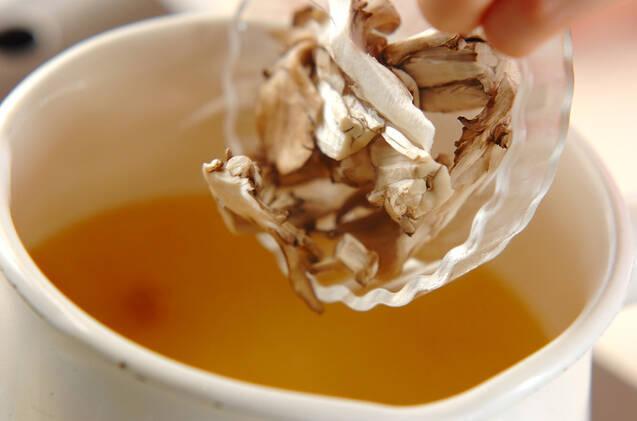 マイタケのスープの作り方の手順3