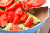 ツナとトマトの卵炒めの作り方2