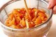 ナメコの納豆汁の下準備1