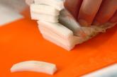豆腐と白菜のみそ汁の下準備2