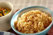 たっぷり新ショウガの玄米ご飯