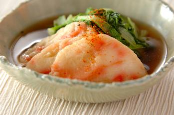 京のおばんざい はくさい菜とショウガ天の炊いたん
