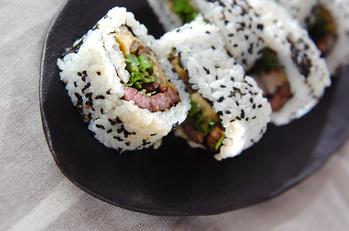 ステーキ巻き寿司