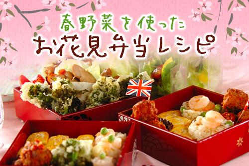 春野菜を使ったお花見弁当レシピ