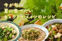 夏野菜の代表でもあるキュウリは、これからが美味しい季節♪暑い日にもさっぱりと頂ける、キュウリレシピをお届け!
