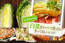 スーパーで手に入りやすい1/4カットの白菜。美味しく簡単に使い切れるレシピをご紹介します。