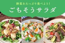 8月31日は野菜の日、普段不足しがちな野菜を積極的に取り入れましょう!暑くてムシムシした気候でも食欲をそそるごちそうサラダです。