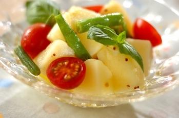 ジャガイモとバジルのサラダ