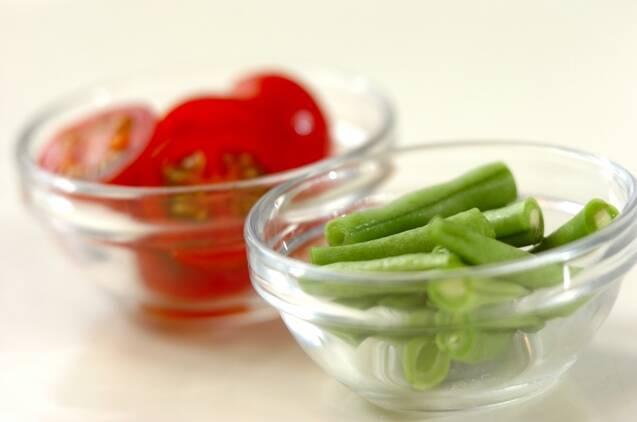 ジャガイモとバジルのサラダの作り方の手順1