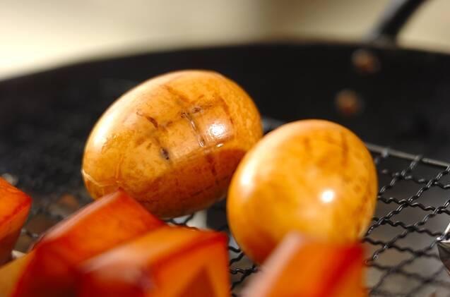 ゆで卵の燻製の作り方の手順4