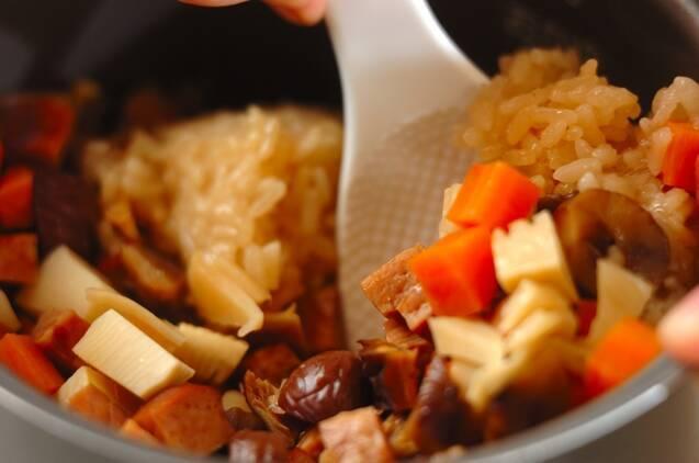 焼き豚入りおこわの作り方の手順4