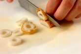 キュウリとちくわのピリ辛マヨネーズ和えの下準備1