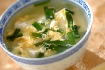 ニラ玉スープ