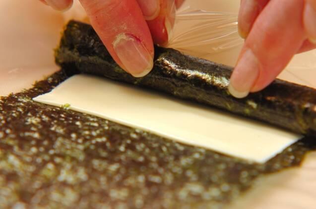 クルクルチーズのり巻きの作り方の手順3