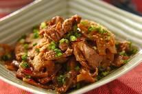 豚肉とレンコンの炒めもの