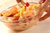 オーロラソースのマカロニサラダの作り方1