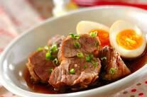 豚ロースとゆで卵の煮もの