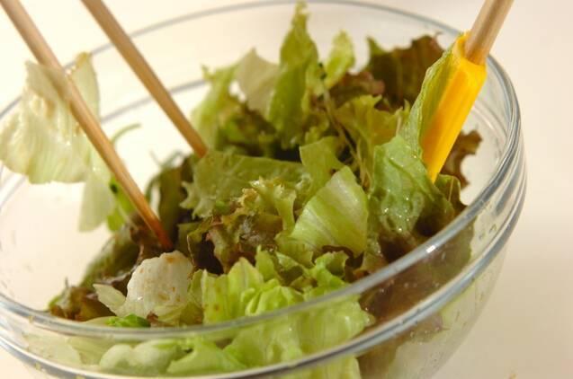 レタスのジャコサラダの作り方の手順5