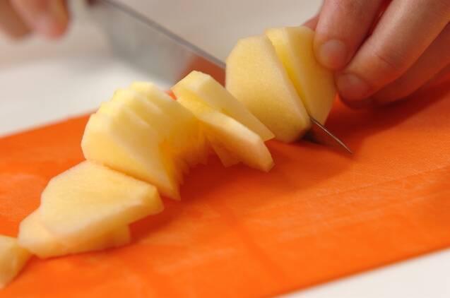 水菜とリンゴの白和えの作り方の手順2