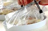 電子レンジで! タラのローストバッグ蒸しの作り方3