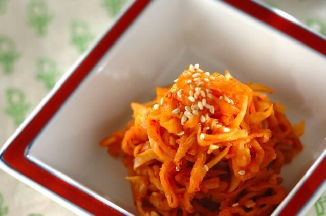 5. 切干大根のキムチ煮