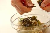 モヤシとキュウリの海苔和えの作り方1
