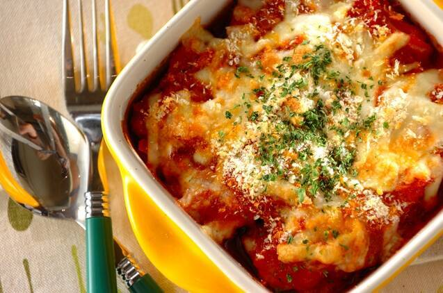 チキンのトマトチーズ焼き