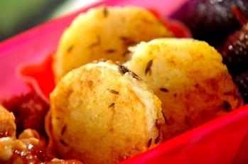 焼き長芋のスパイシーカレー風味