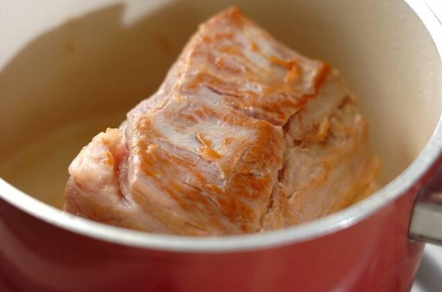 ゆで豚とニンニクみそのレタス巻き(仕込時間あり)の作り方の手順2